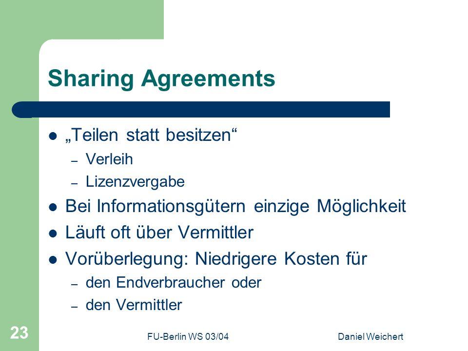"Sharing Agreements ""Teilen statt besitzen"