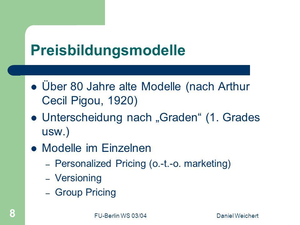 Preisbildungsmodelle