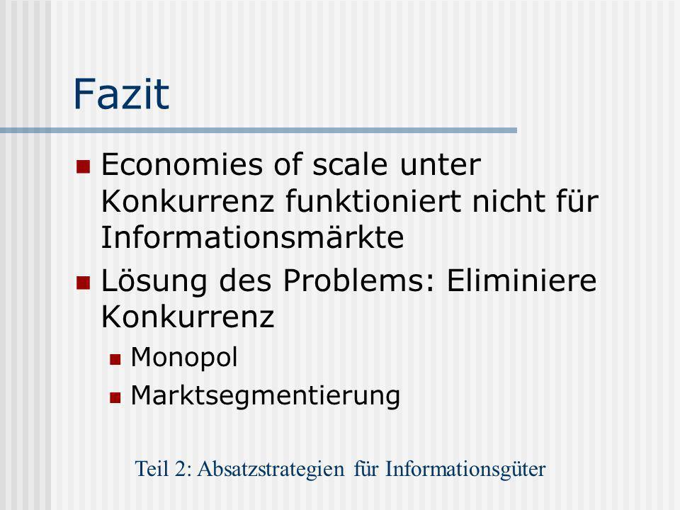 Teil 2: Absatzstrategien für Informationsgüter