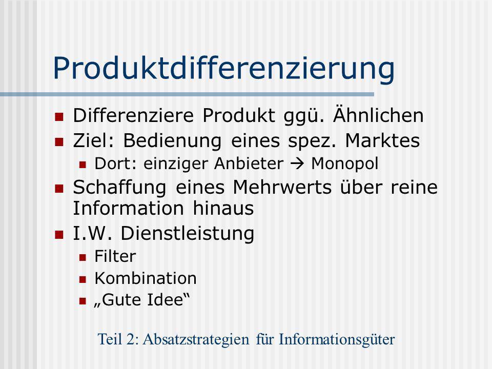 Produktdifferenzierung