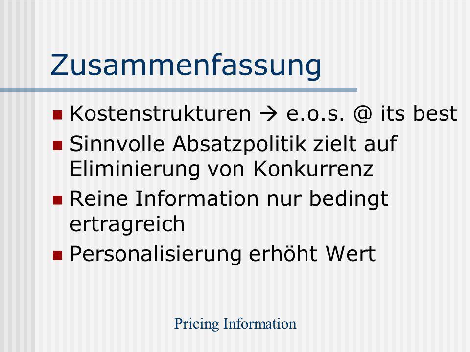 Zusammenfassung Kostenstrukturen  e.o.s. @ its best