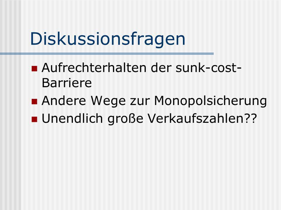 Diskussionsfragen Aufrechterhalten der sunk-cost-Barriere