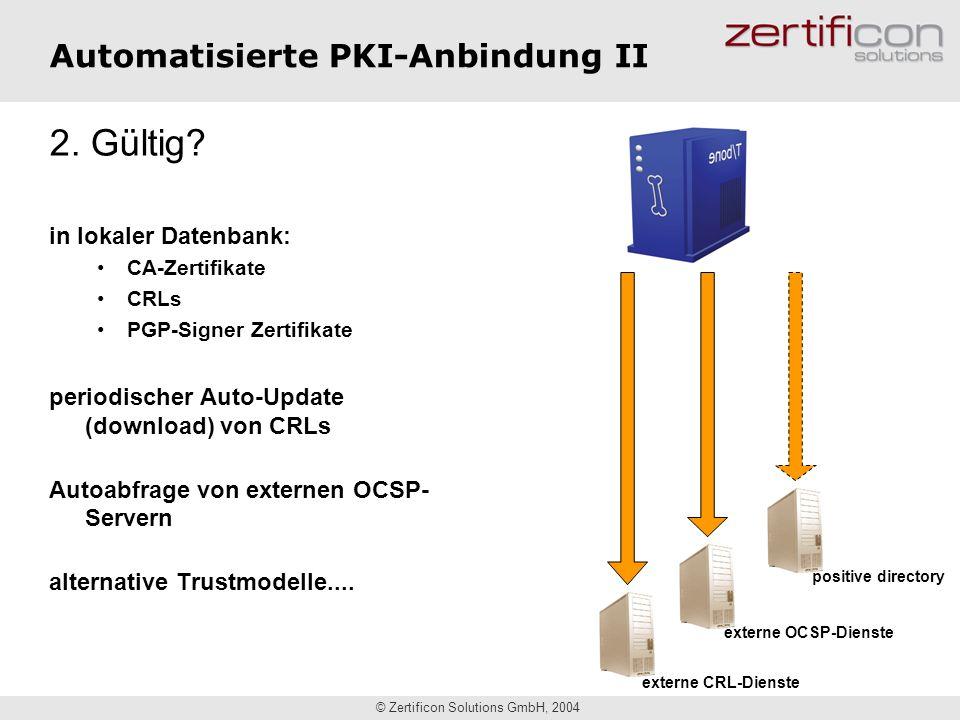 Automatisierte PKI-Anbindung II
