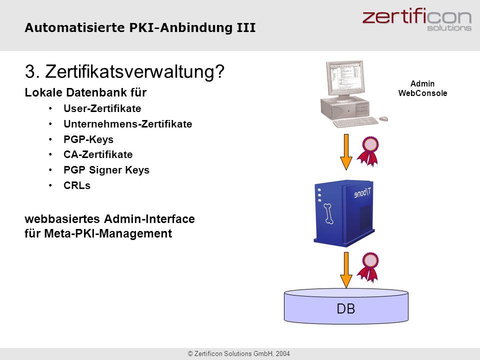 Automatisierte PKI-Anbindung III