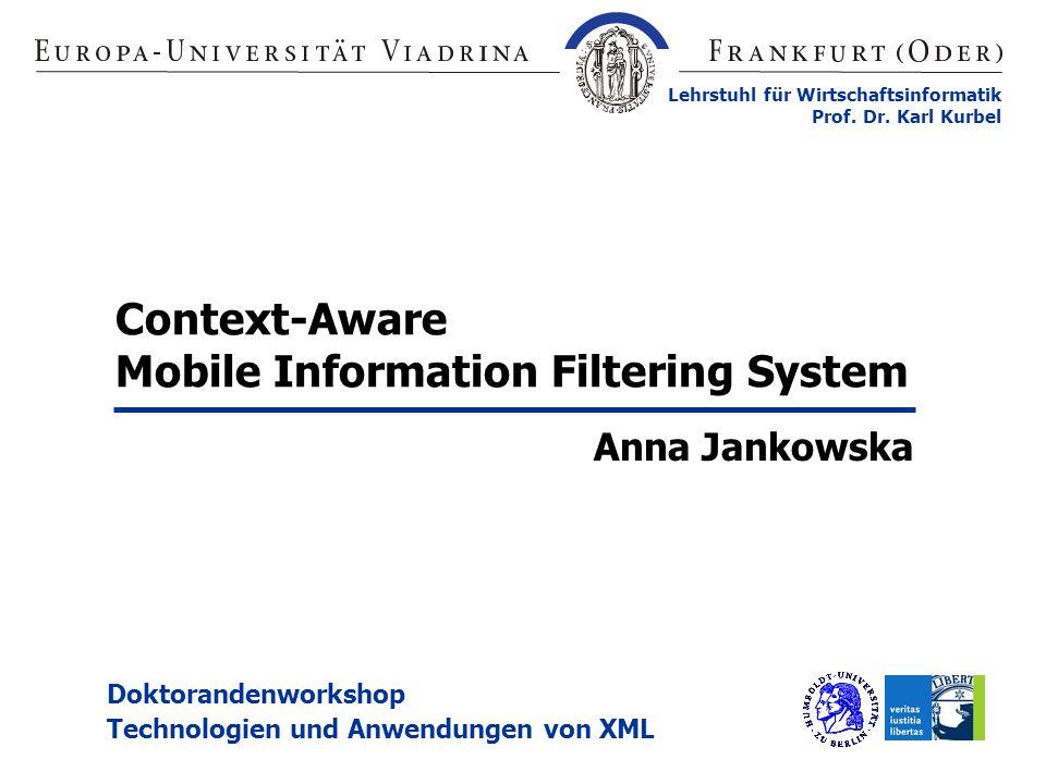 Mobile Information Filtering System