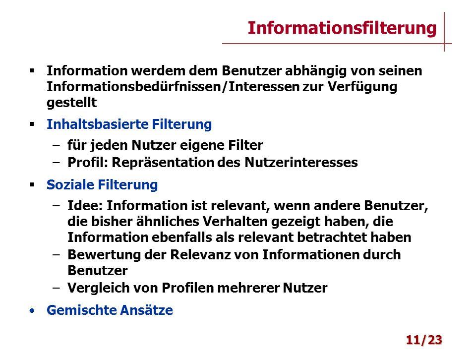 Informationsfilterung