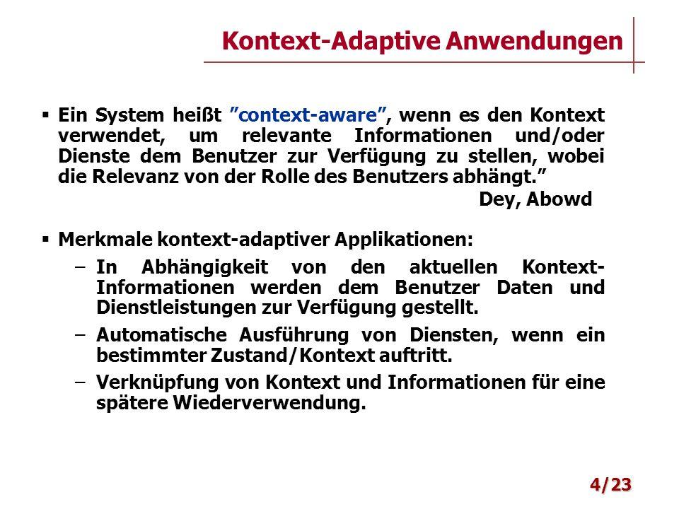 Kontext-Adaptive Anwendungen