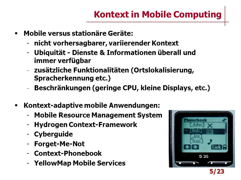 Kontext in Mobile Computing