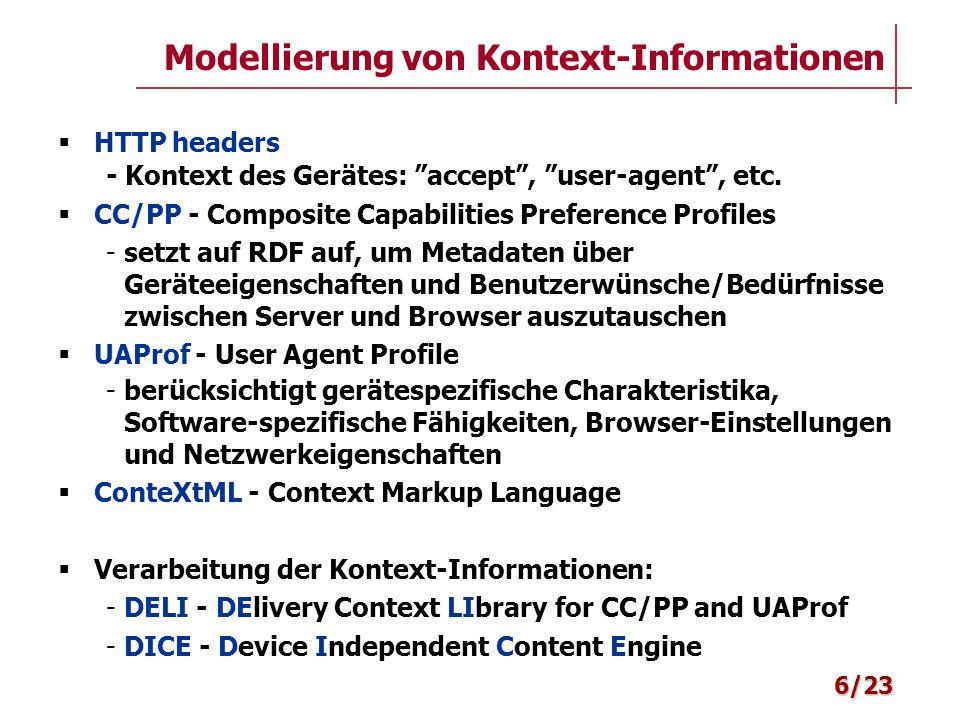 Modellierung von Kontext-Informationen