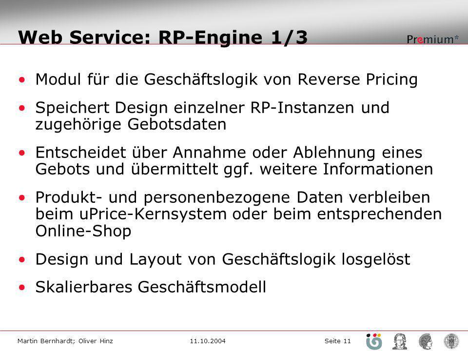 Web Service: RP-Engine 1/3