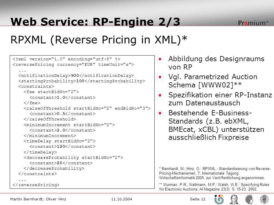 Web Service: RP-Engine 2/3