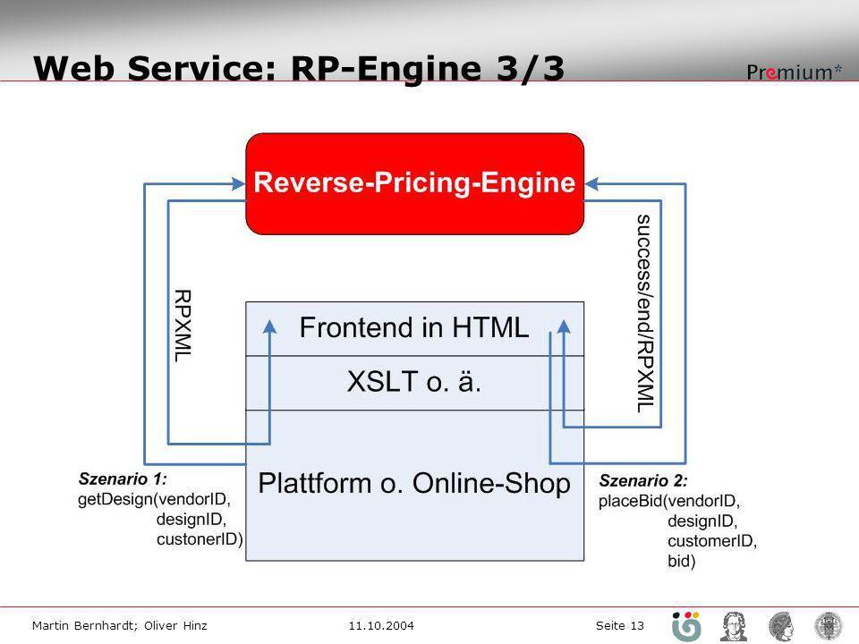 Web Service: RP-Engine 3/3