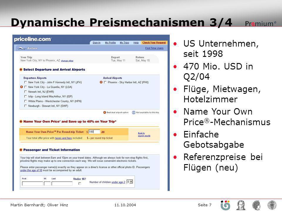 Dynamische Preismechanismen 3/4