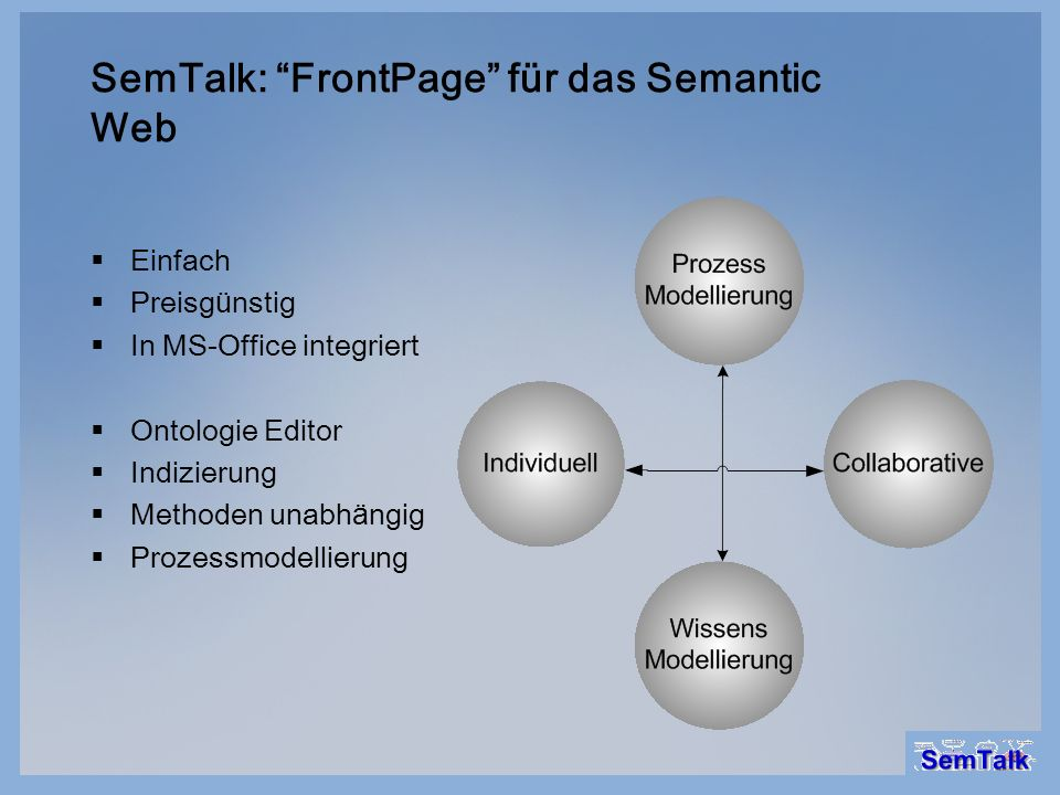 SemTalk: FrontPage für das Semantic Web
