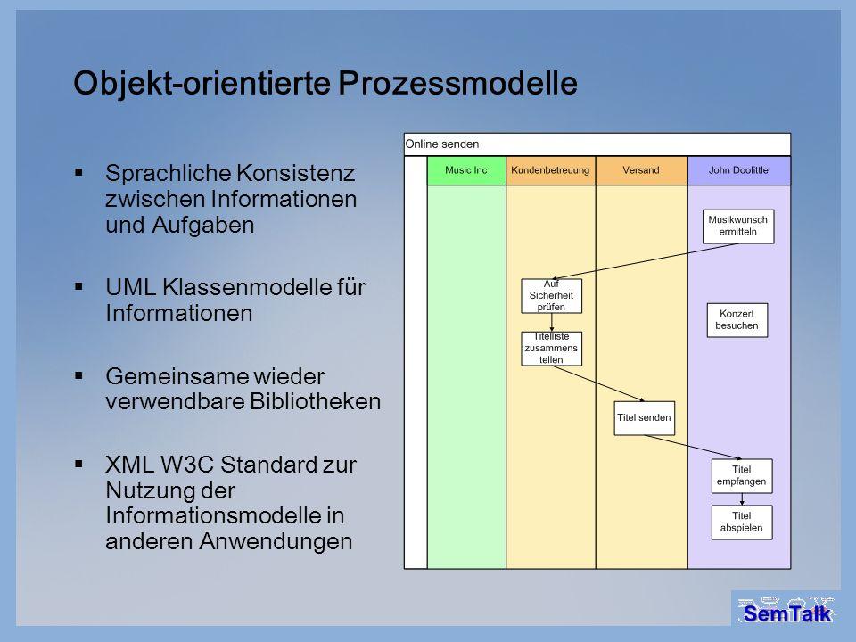 Objekt-orientierte Prozessmodelle