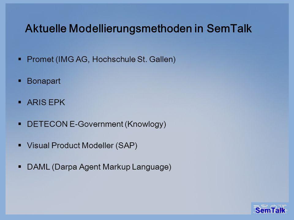 Aktuelle Modellierungsmethoden in SemTalk