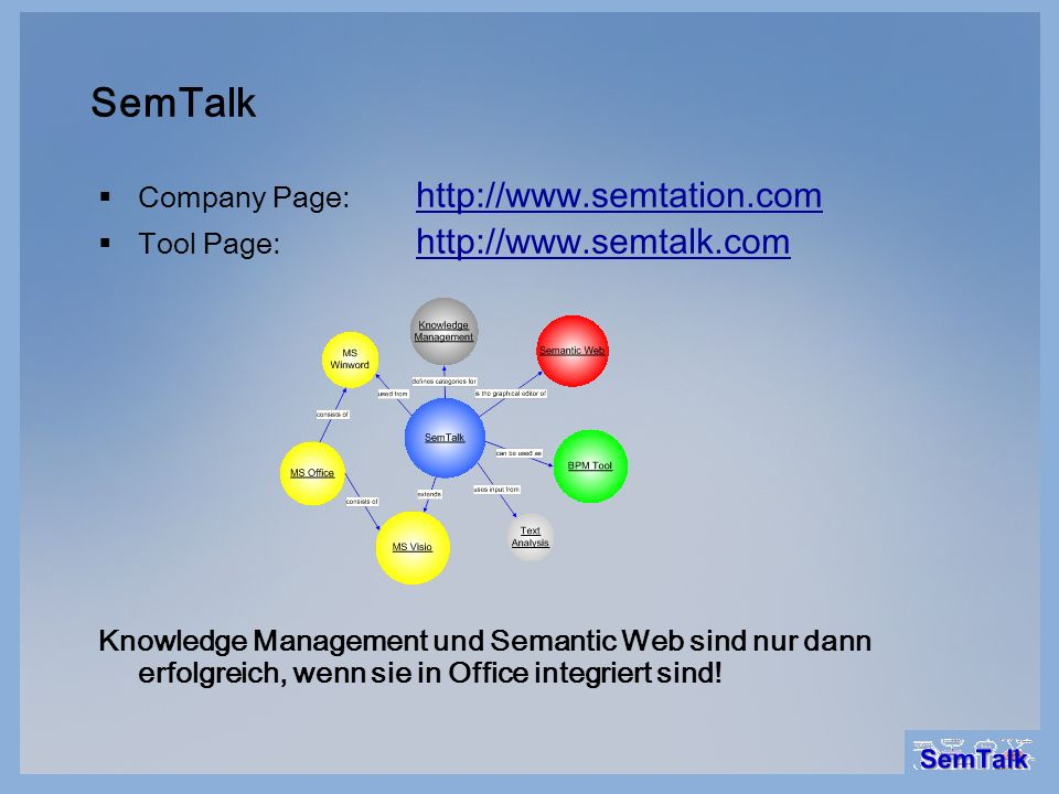 SemTalk Company Page: http://www.semtation.com