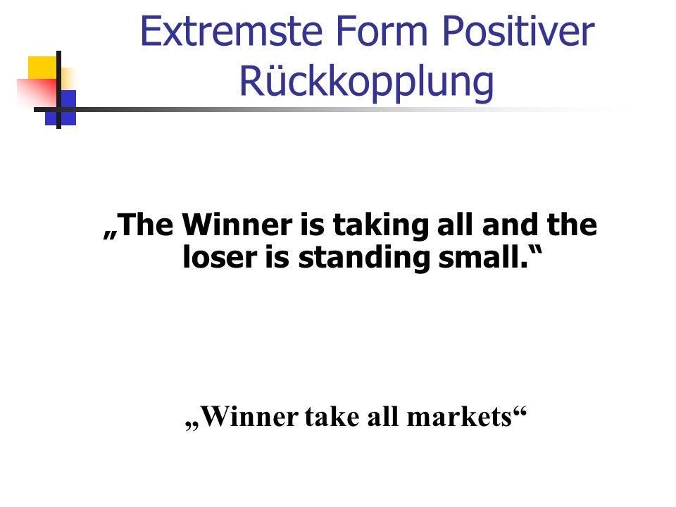 Extremste Form Positiver Rückkopplung