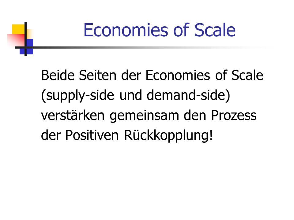 Economies of Scale Beide Seiten der Economies of Scale