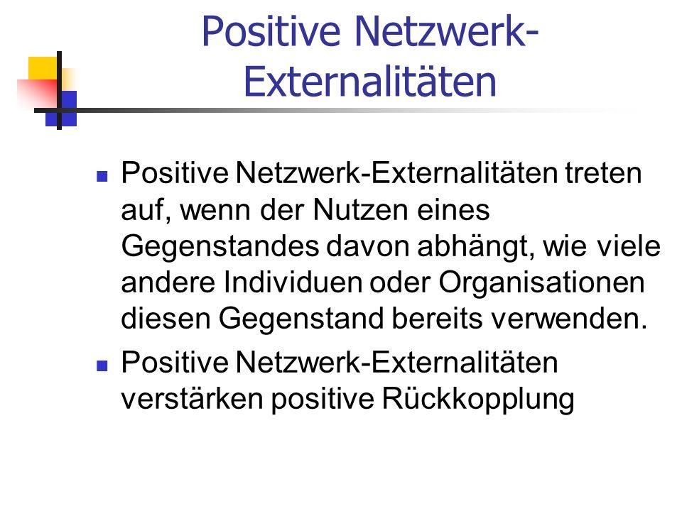 Positive Netzwerk-Externalitäten