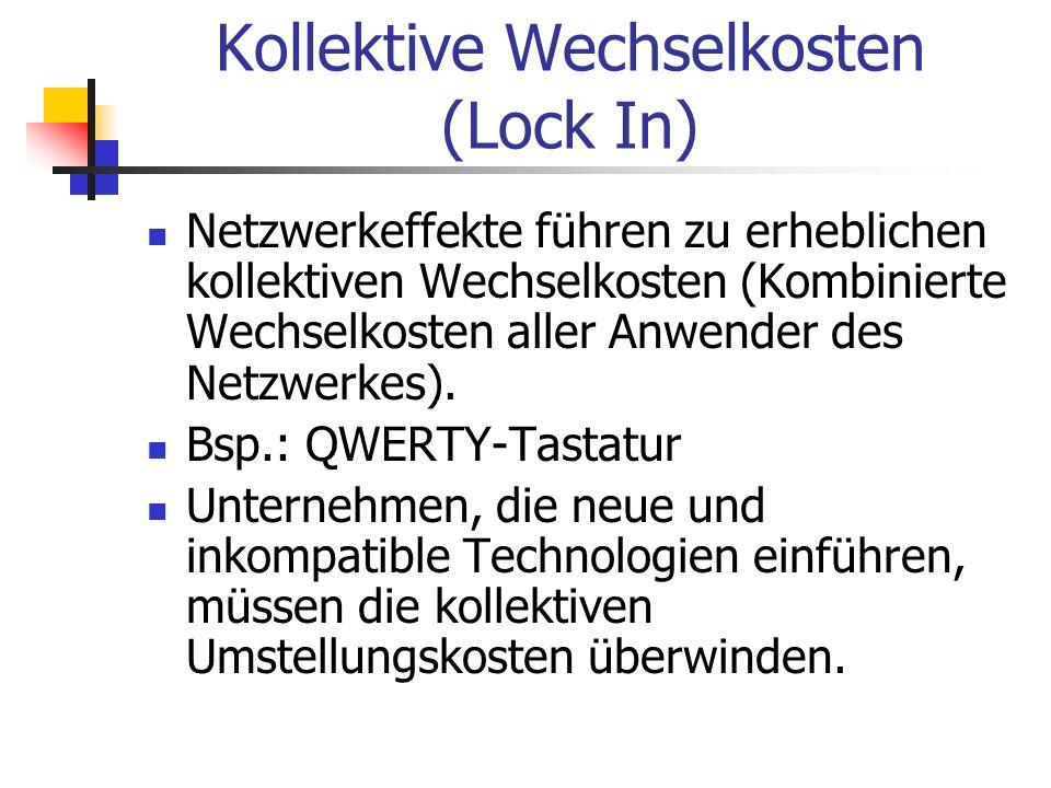 Kollektive Wechselkosten (Lock In)