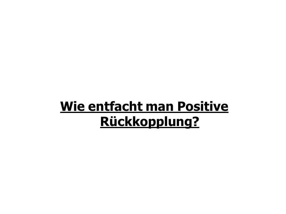 Wie entfacht man Positive Rückkopplung