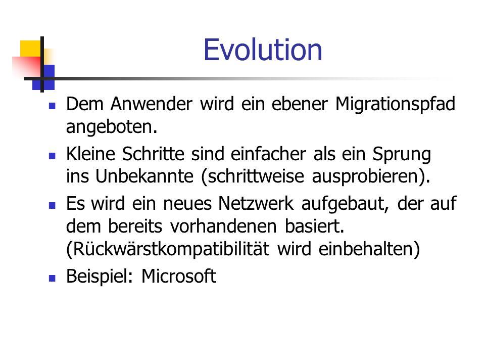 Evolution Dem Anwender wird ein ebener Migrationspfad angeboten.