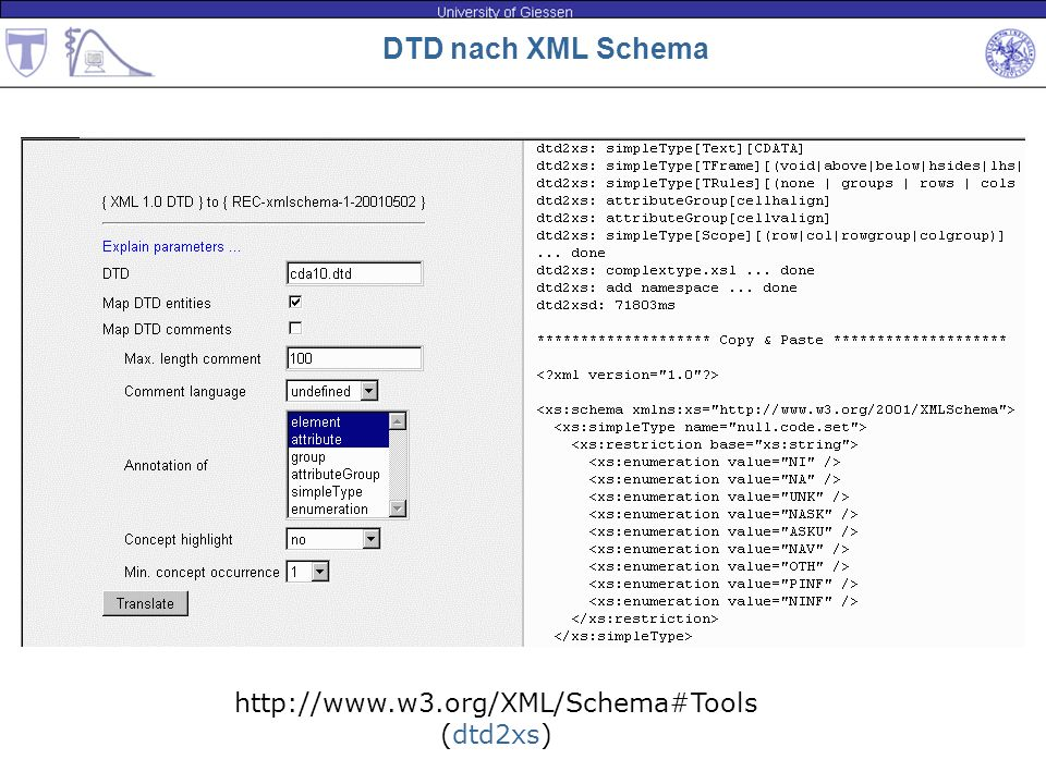 http://www.w3.org/XML/Schema#Tools (dtd2xs)