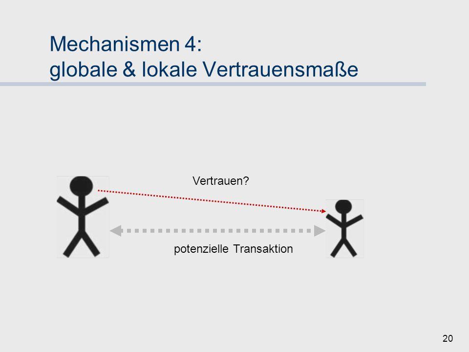 Mechanismen 4: globale & lokale Vertrauensmaße