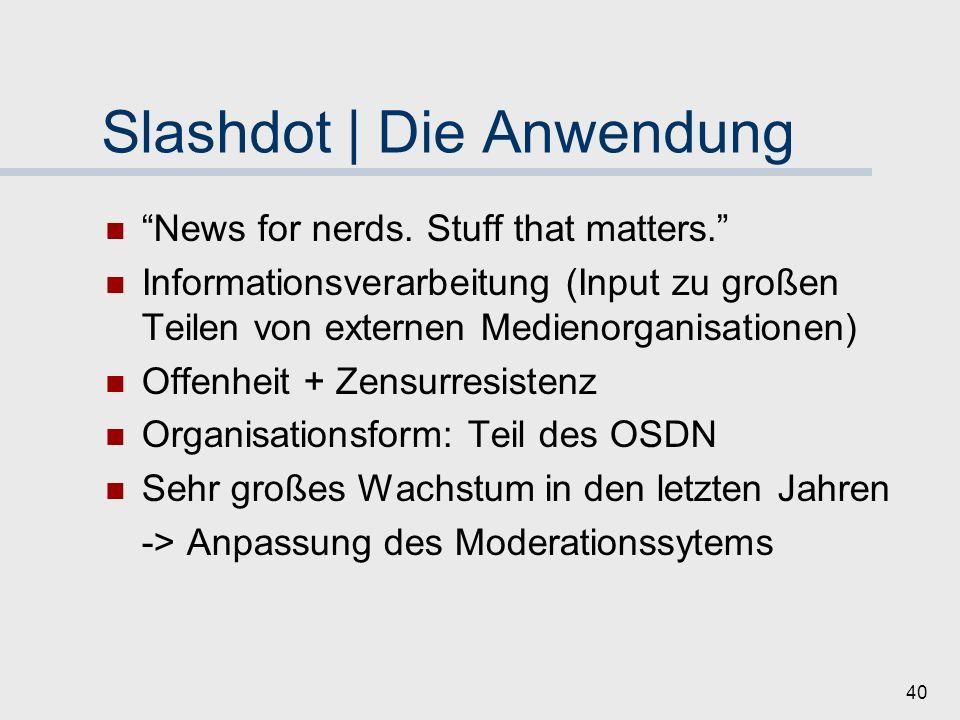 Slashdot | Die Anwendung