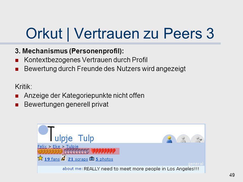 Orkut | Vertrauen zu Peers 3