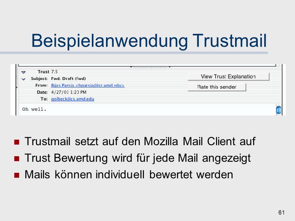 Beispielanwendung Trustmail
