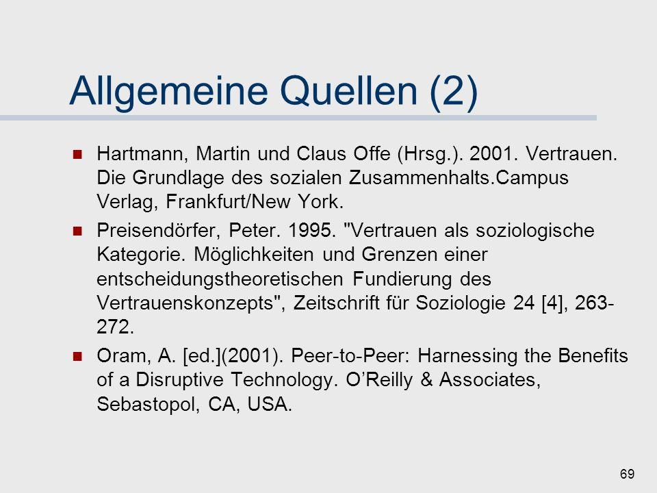 Allgemeine Quellen (2)