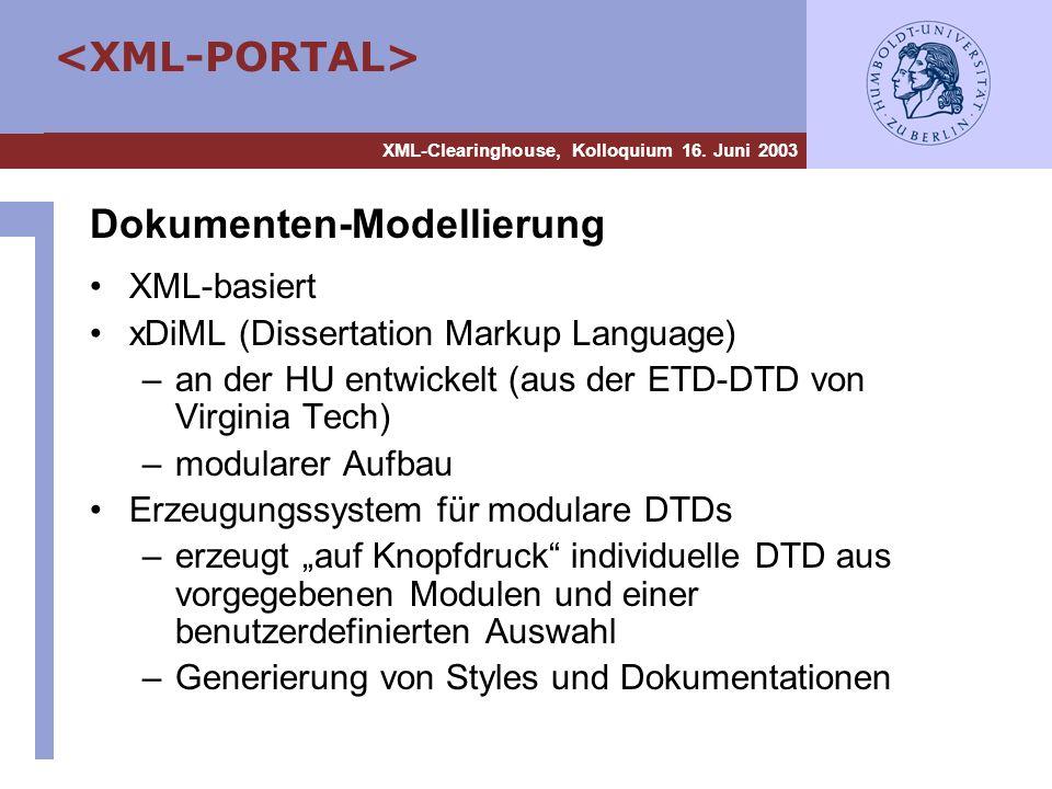 Dokumenten-Modellierung