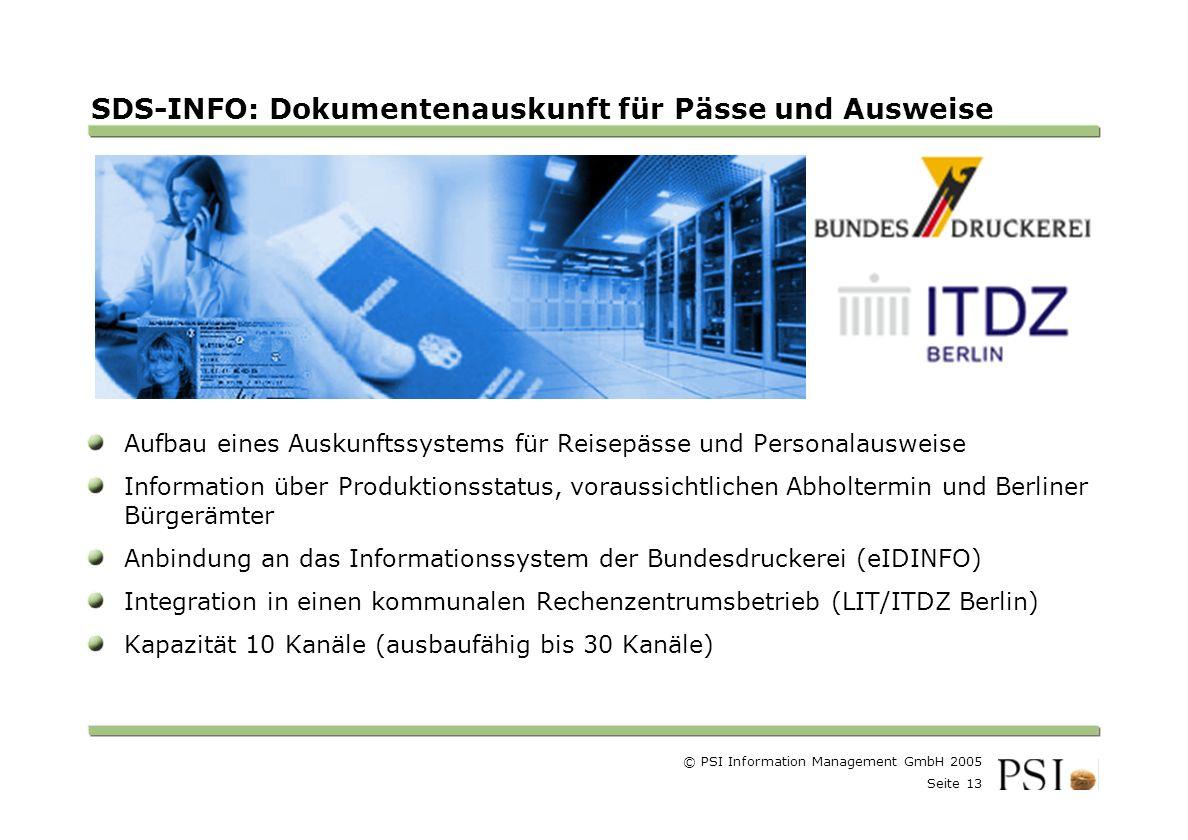 SDS-INFO: Dokumentenauskunft für Pässe und Ausweise