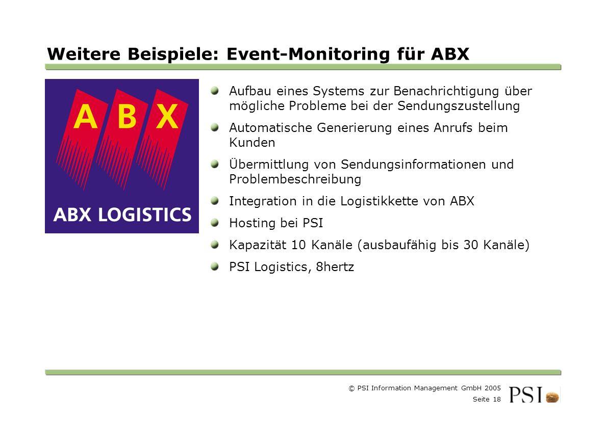 Weitere Beispiele: Event-Monitoring für ABX