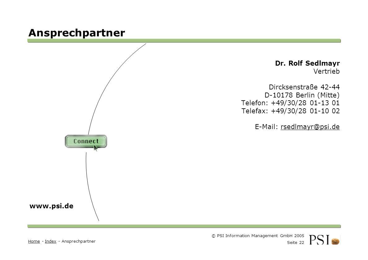 Ansprechpartner Dr. Rolf Sedlmayr Vertrieb