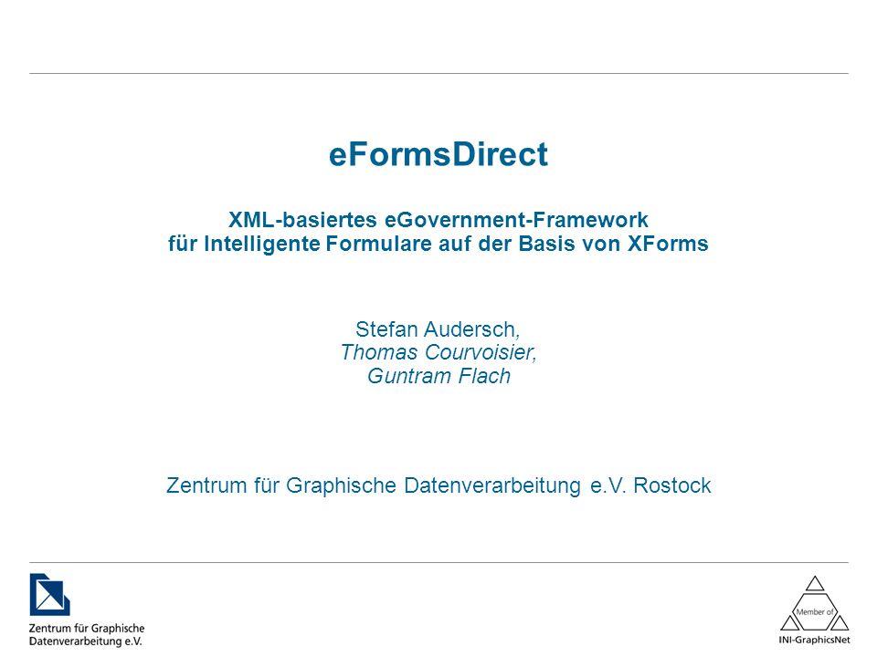 eFormsDirect XML-basiertes eGovernment-Framework