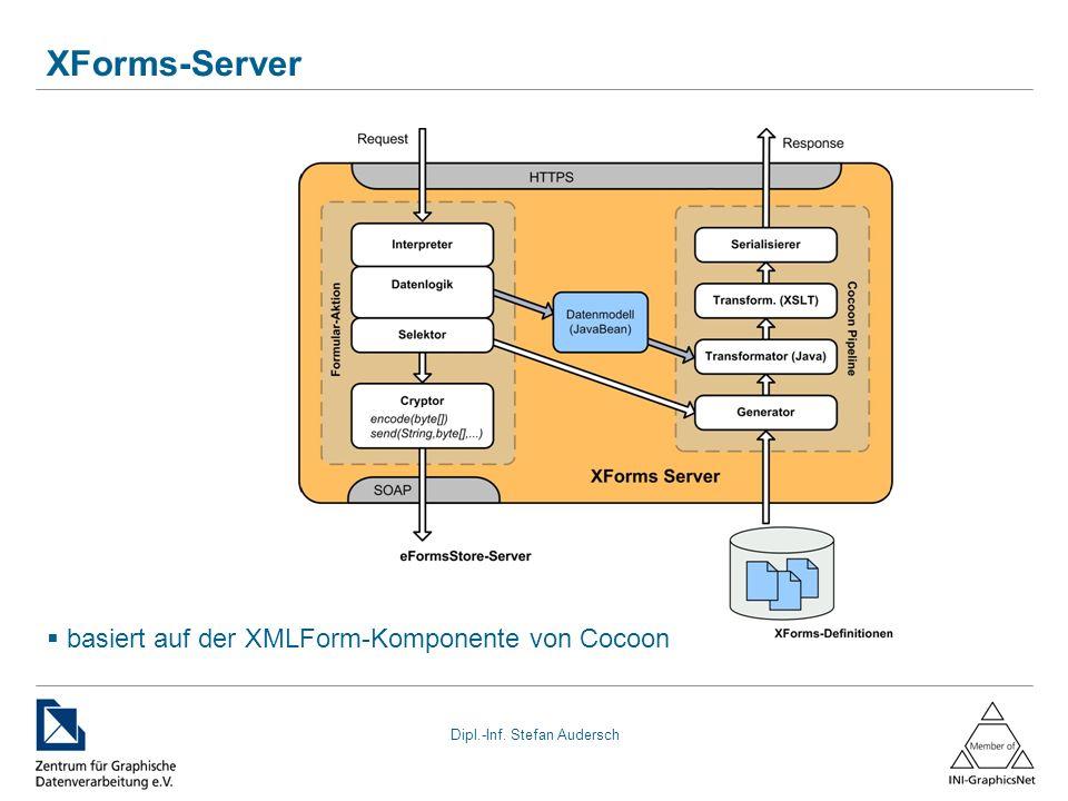 XForms-Server basiert auf der XMLForm-Komponente von Cocoon