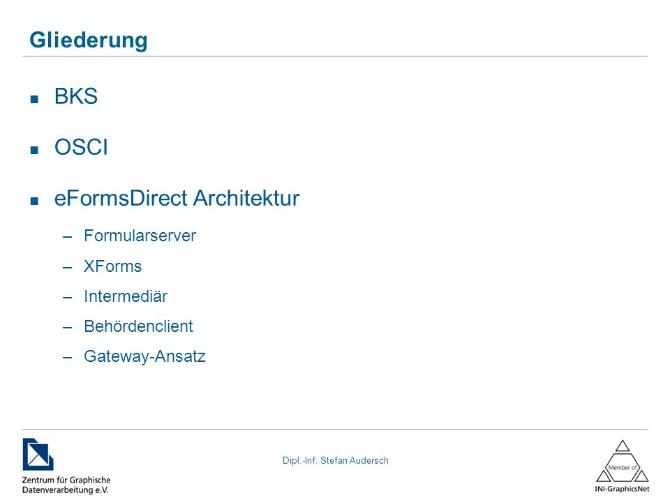 eFormsDirect Architektur