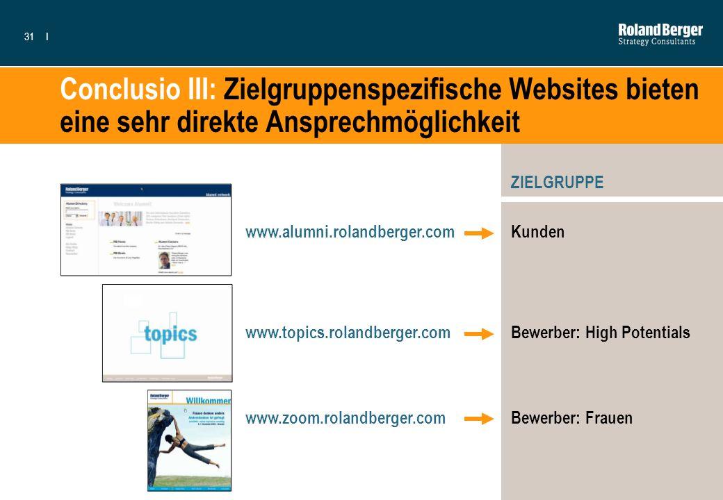 Conclusio III: Zielgruppenspezifische Websites bieten eine sehr direkte Ansprechmöglichkeit