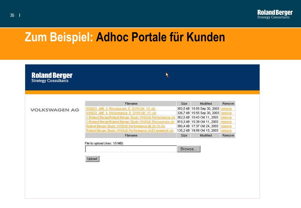 Zum Beispiel: Adhoc Portale für Kunden