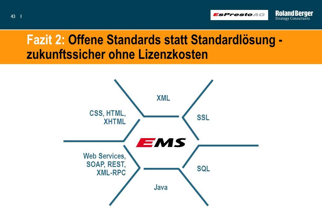 Fazit 2: Offene Standards statt Standardlösung - zukunftssicher ohne Lizenzkosten