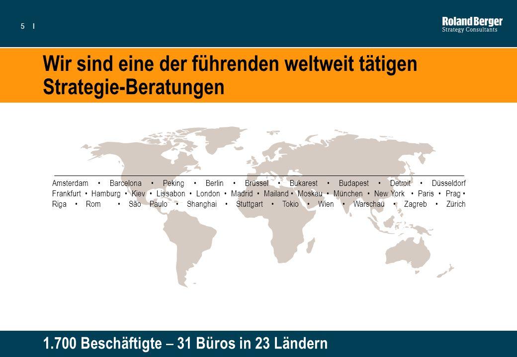 Wir sind eine der führenden weltweit tätigen Strategie-Beratungen