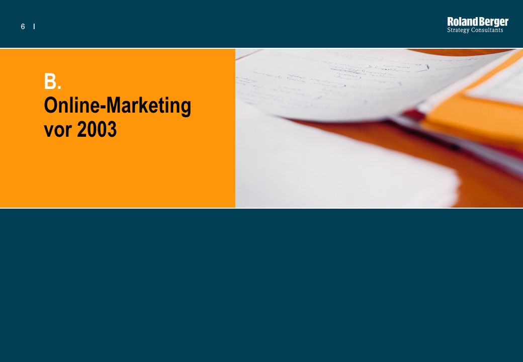 B. Online-Marketing vor 2003