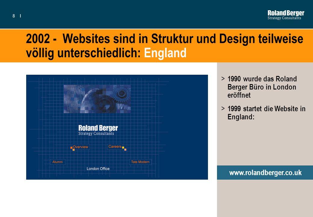 2002 - Websites sind in Struktur und Design teilweise völlig unterschiedlich: England