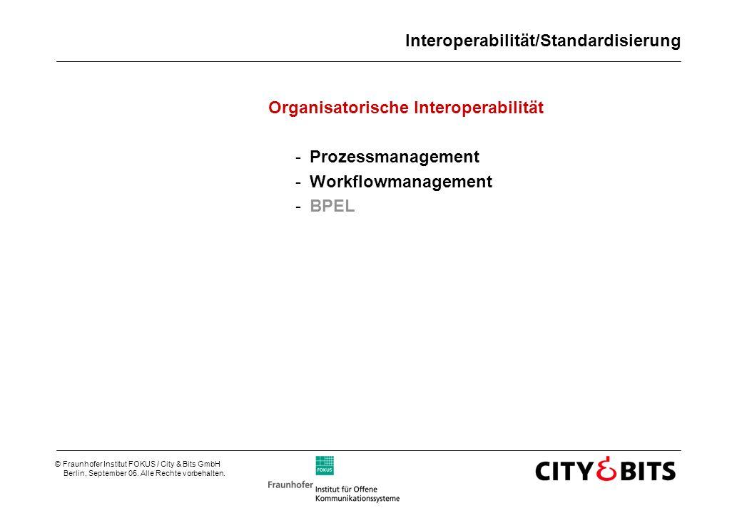 Interoperabilität/Standardisierung