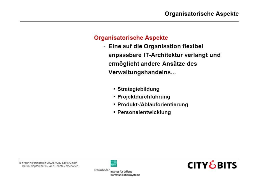 Organisatorische Aspekte