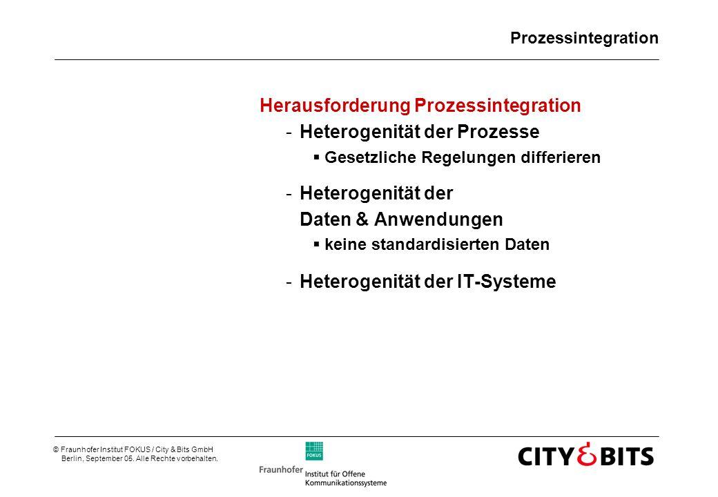 Herausforderung Prozessintegration Heterogenität der Prozesse