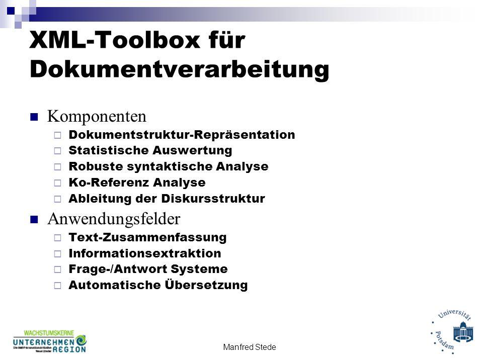 XML-Toolbox für Dokumentverarbeitung